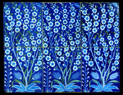 Iznik Flower Panel